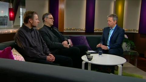 Mattias från NPYP och Göran Bryntse (FmKK) i Gomorron Sverige
