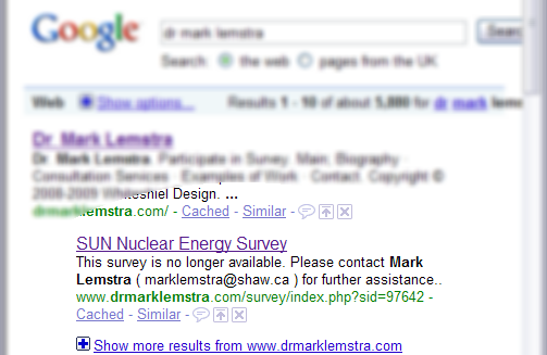 Not only did Mark Lenstra write the concerns for the CCPA and SUN, he also hosted the survey.